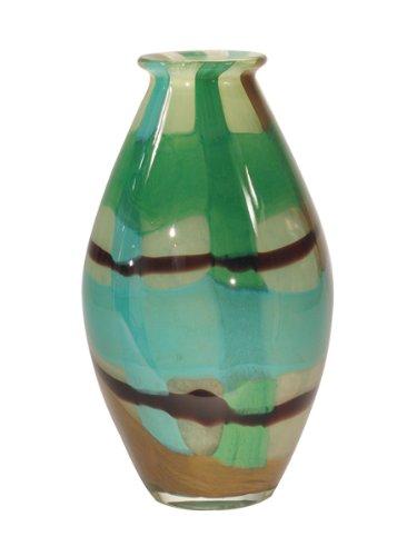 Dale Tiffany La Mesa Deko Vase, glas, blau, 6-3/4-Inch by 12-Inch