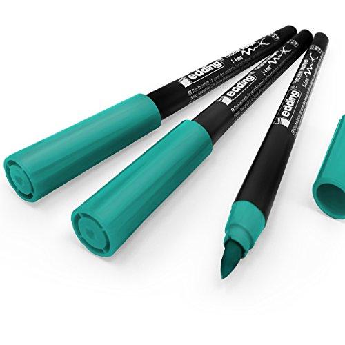 Edding 4200Porzellan-Pinsel, 1–4mm–Pack von 3–türkis # 14
