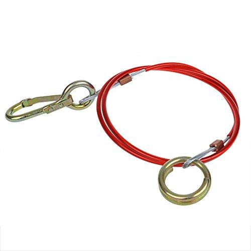 Abreisseil Stahlseil Bremsseil Farbe Rot 1,5m