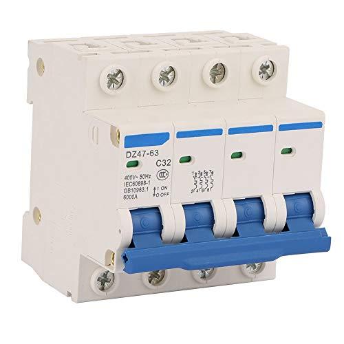 DZ47-63 4P 32A 400V Miniatura Disyuntores de corriente residual RCCB