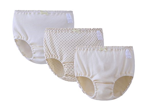ABClothing 3 Pack Teen Mädchen Baumwolle Kurze Unterwäsche Süße Dot Mid Rise Bikini Dessous Panty Höschen Set