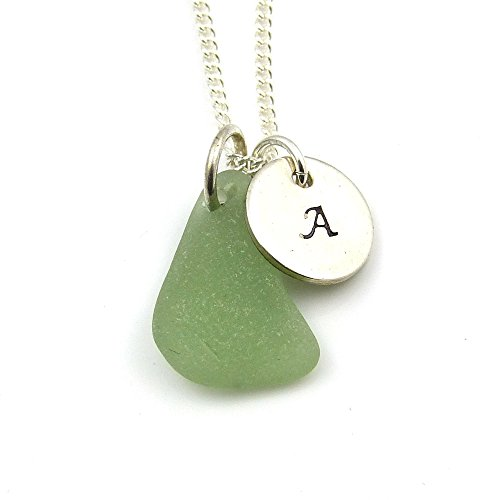 personalised-925-sterling-silver-disc-and-sea-glass-necklace-p161