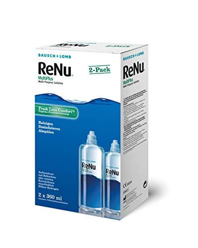 ReNu MultiPlus Pflegemittel für weiche Kontaktlinsen, Twin Box, (2 x 360 ml)
