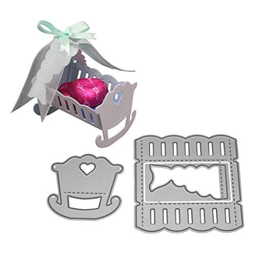 Mentin Babywiege Metall Form Schneiden Schablonen DIY Sammelalbum Dekor Papier Karten, Metall Buchzeichen, Metall Lesezeichen Als Geschenk Fuer Freunde