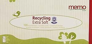 Memo - ECO MH1067 - Hygiène Bio - Mouchoirs Recyclés - Boite Distributrice - 100