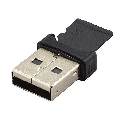 Kleinste Microsd (2.0 USB Mini Adapter Kartenleser für Micro SD SDHC SDXC Karten bis 256GB, Schwarz (verbesserte Ausführung v2.77))