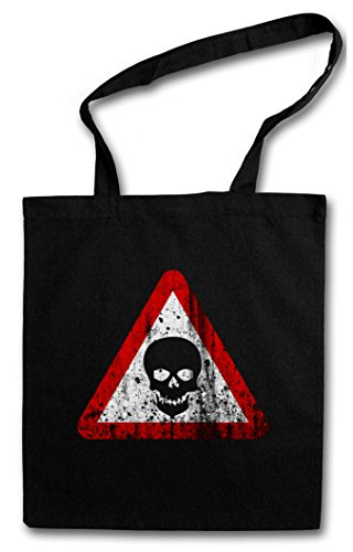 Urban Backwoods Skull Sign Hipster Bag – cráneo Gothic Horror Medieval Larp Lovecraft Logo Insignia Symbol Skeleton Army Metal Puk Skate Indie Nerd Hipster Disco Neon Glamour Rock Tribal Tattoo