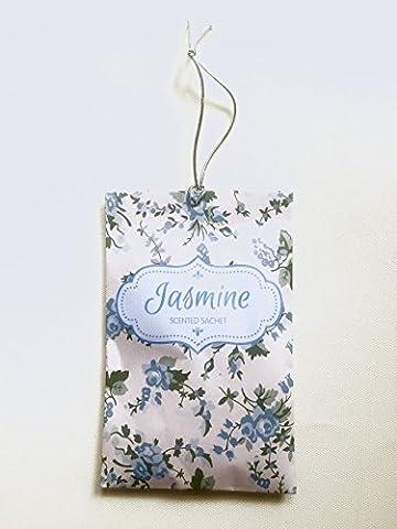 Jasmine Scented Fragrance Hanging Sachet - Pack of 6 -