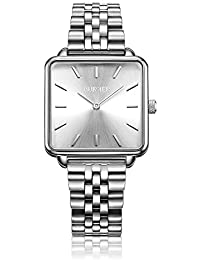 BURKER Chloe - Ladies Watch Silver | 28mm Watch for Ladies with White Dial | Ladies