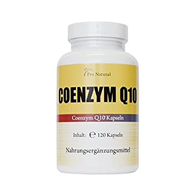 Coenzyme Q10200mg–120Vegetarian Capsules–High Dose–German Bestseller from Pro Natural