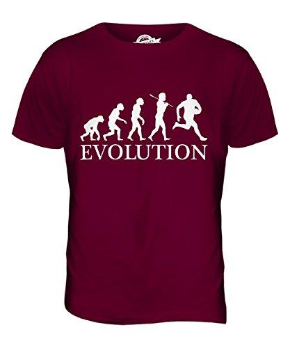 CandyMix Australian Football Evolution Des Menschen Herren T Shirt Burgunderrot