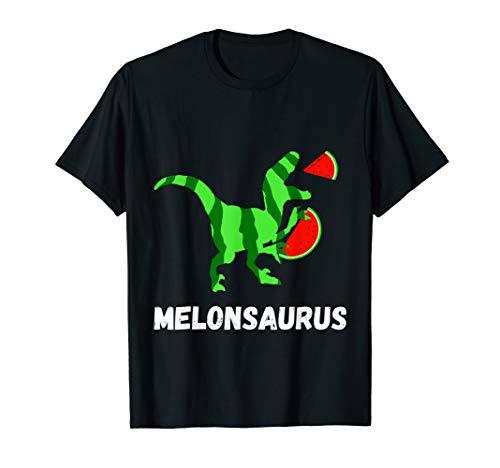 Wassermelone Bekleidung (Wassermelone Dinosaurier Melonen Dino Frucht Rex T-Shirt)