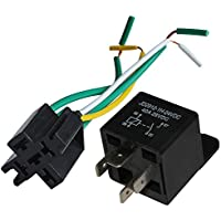 Ehdis PC Board Relais 5 Pin 24v 40amp SPDT mit PCB Relais Steckdose Stecker 5 PIN Automotive Switches /& Starter 5 Pack