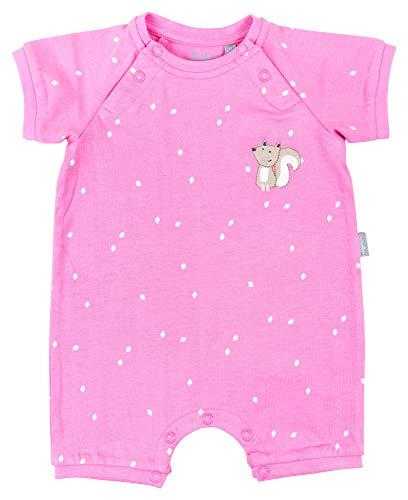 Sigikid Baby-Mädchen-Overall, kurz-Spieler-Schlafanzug Sommer Schlafstrampler, Rosa (Aurora Pink 686), (Herstellergröße: 80) - Rosa Kurzer Schlafanzug