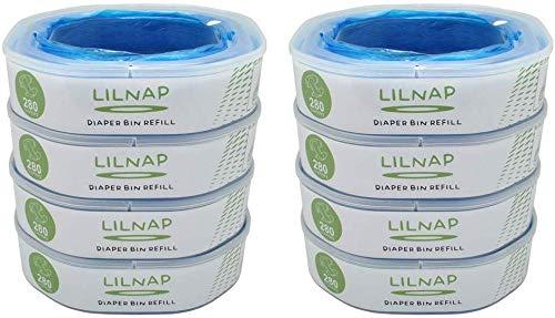 LILNAP - Nachfüllkassetten passend für Angelcare Windeleimer Dress-Up & Classix XL