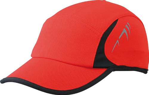 Myrtle Beach Uni Cap Running 4 Panel, red/black, One size, MB6544 rdbl