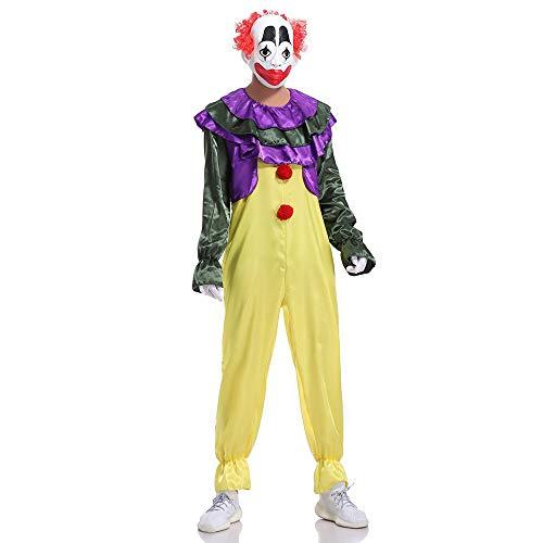 Overall Erwachsene Clown Für Kostüm - kMOoz Halloween Kostüm,Outfit Für Halloween Fasching Karneval Halloween Cosplay Horror Kostüm,Clown Kostüm Cos Kleidung Zirkusmagier Kostüm Erwachsenen Clown Overall