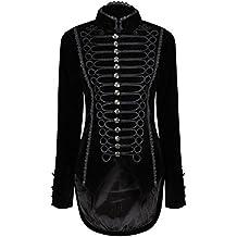 Ro Rox Un Goth Gótico FRAC de Terciopelo para Mujer