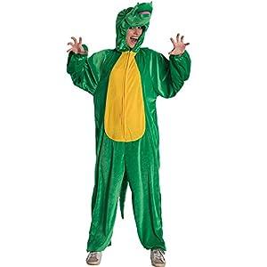 Carnival Toys Disfraz cocodrilo para adultos, multicolor, talla única, 25932