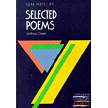 York Notes on Selected Poems of Wilfred Owen