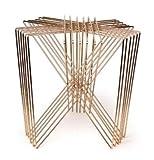 Casa Padrino Beistelltisch Gold 46 x 46 x H. 46 cm - Designer Möbel