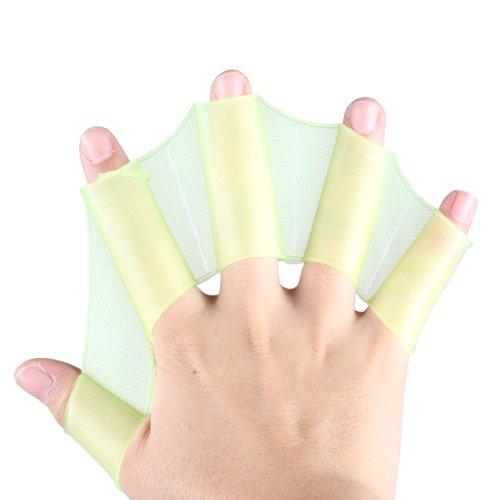broadroot S/M/L Silikon hydrodynamische Design Hand Schwimmflossen gewebter Handschuhe Paddle (blau) S grün