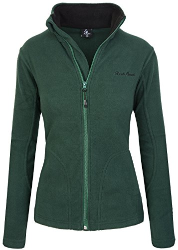 Rock Creek Damen Fleecejacke Fleece Jacke Übergangs Jacke Sweatjacke D-389 [DarkGreen XS]