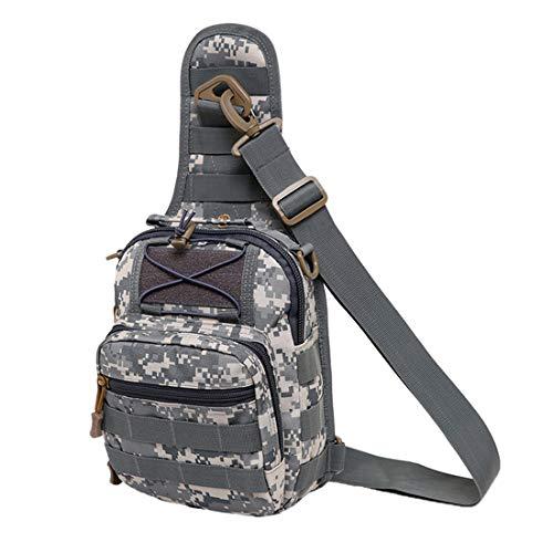 Tianba Brusttasche Herren Reiten Wandern Umhängetasche Jungs Militär Sporttasche Anti-Diebstahl Schulter Rucksack