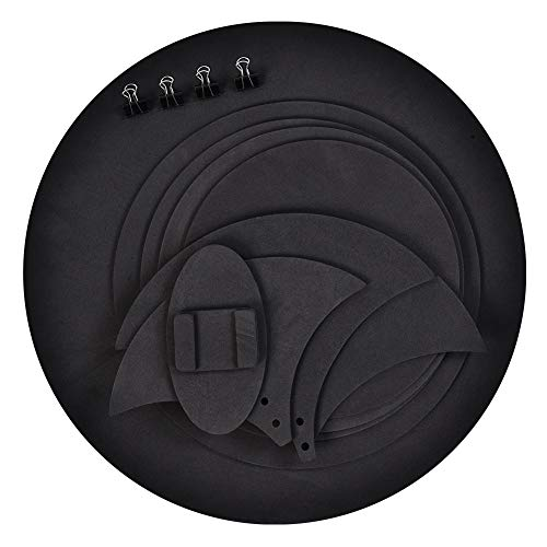 Drum-Pad, 10 stücke Mute Schalldämpfer Drumming Praxis Pad Bass Drums Leise Sound aus Schwarz - Bass Drum Mute