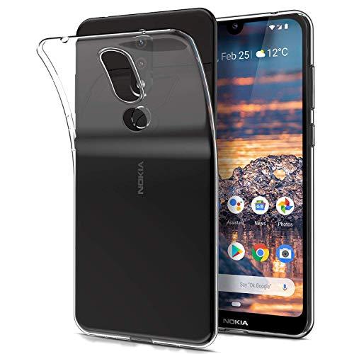 AINOYA Transparent Silikon Handy Hülle für Nokia 4.2, Weiche TPU [Ultradünnen] Flexibel Bumper Handyhülle Durchsichtig Kratzfest Schutzhülle kompatibel mit Nokia 4.2 - Crystal Clear