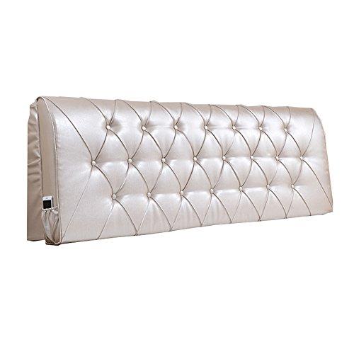 HFF Europäische Kopfteil Soft Pack Lange zurück Bettdecke Schlafzimmer Doppelbett Kunstleder Kissenbezug-8 Arten von Größe (Color : Champagne Color, Size : 185 * 10 * 60cm)