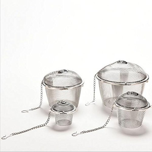 Magideal Stainless Steel Ball Tea Spice Strainer Infuser Mesh Filter Loose Leaf 4.5cm  available at amazon for Rs.190