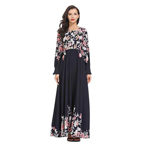 Muslimisches Kleid Elegant Moslemischer Vintage Gedruckt Muslimische kleidung Islamische Kleidung Lose Frauen Muslimische MaxiKleid Abaya Islamischer Arabischer Kaftan -