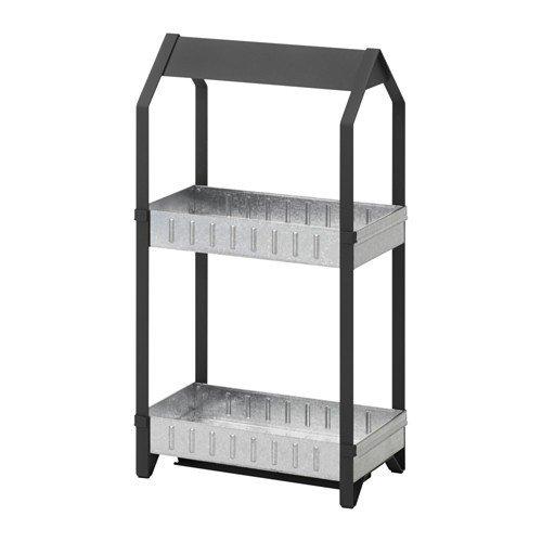 Ikea KRYDDA Pflanzelement in schwarz; 2-stufig; verzinkt; (44x25cm)