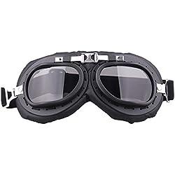 RETYLY Gris A Prueba de Viento Motocicleta Bicicleta Gafas de Gafas Voladoras Anti-Ultravioleta Casco de Gafas para Harley Cafe Racer Protector