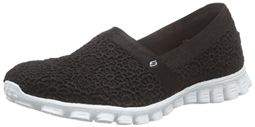 Skechers EZ Flex 2 Make Believe, Damen Slipper, Schwarz (BKW), 41 EU - Laufschuhe Skechers Mann