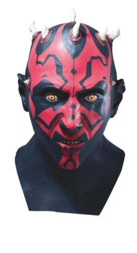 Star Wars tm Darth Maul tm Adult Latex Full Overhead Mask (máscara/ careta)