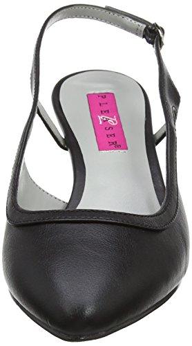 Pleaser Damen Kitten-02 Sling Backs Black (Blk Faux Leather) 1nK7DV