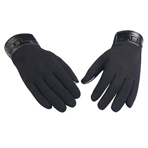 Amazingdeal365 Touchscreen Handschuhe Motorradhandschuhe Fahrradhandschuhe Sporthandschuhe Alltaghandschuhe Winddicht und Wärmer geeignet Perfekt für Herbst und Winter (Schwarz)