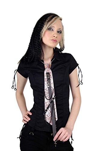 Krawatte mit Spinnennetz und Totenkopf - Queen of Darkness (Krawatte Unterwäsche Männer)