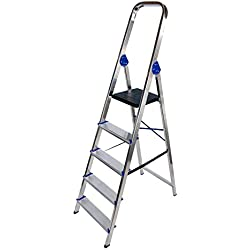 Arcama DN05 - Escalera domestica (aluminio, 5 peldaños, EN131)