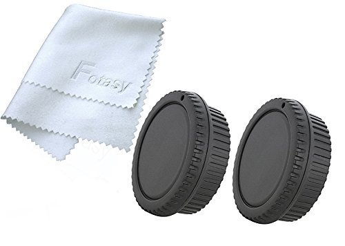 Fotasy RBC2 2x Rear Lens Cover and Camera Body Cap Set, Cleaning Cloth for Canon EOS DSLR (Black)  available at amazon for Rs.1888