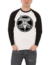 Venom T Shirt In League With Satan Band Logo offiziell Herren Nue Baseball T