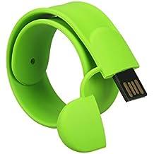 MAXINDA Pendrive Pulsera / Flash Driver/ Memoria USB Divertido Interesante Como un Regalo para su Amigos (16GB, Verde)
