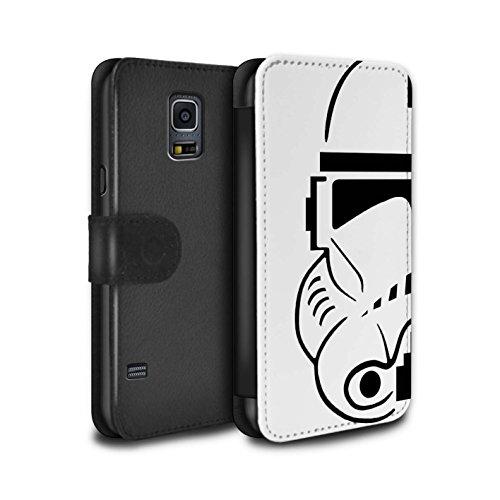 Stuff4 PU Pelle Custodia/Cover/Caso/Portafoglio per Samsung Galaxy S5 Neo/G903 / Clone Soldato/Assalto Soldato Casco Disegno