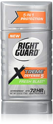 Right Guard Déodorant anti-transpiration invisible Total Defense Power Stripe - Parfum Fresh Blast - 77 ml