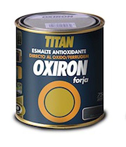 Titan 02C4525 - Shiny smooth antioxidant enamel for metal Titan Oxiron RED 750 ml
