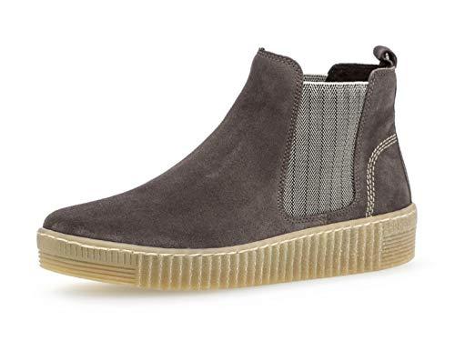 Gabor Damen Chelsea Boots 33.731, Frauen Stiefelette,Stiefel,Halbstiefel,Bootie,Schlupfstiefel,flach,Wallaby/beige(natu,40 EU / 6.5 UK