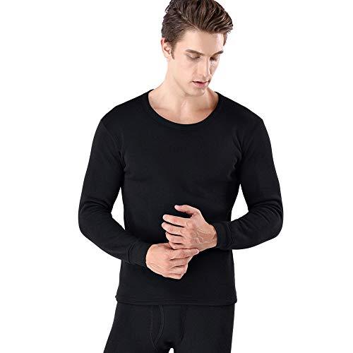 YUYUGO Thermounterwäsche, Lange Unterwäsche, Winterunterwäsche, Oberteil für Männer und Frauen Gr. 2-4 Jahre Old, Black for Men