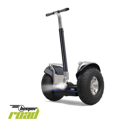 Kategorie <b>E-Scooter mit Griff / Sitz </b> - BEEPER Alles Alles Gelände Straßenzulassung Selbstbalancierendes Elektrofahrzeug, grau, One Size
